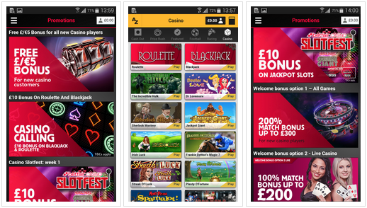 Casino app for android