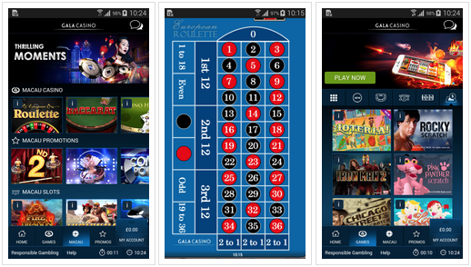 Gala casino Android app