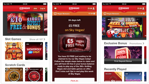 Best Casino iPhone apps - Sky Vegas app