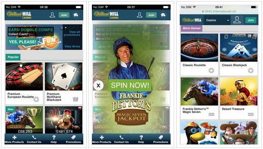 William Hill iPhone Casino app