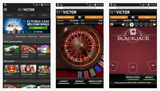 BetVictor casino Android app