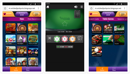 The Wicked Jackpots mobile casino app