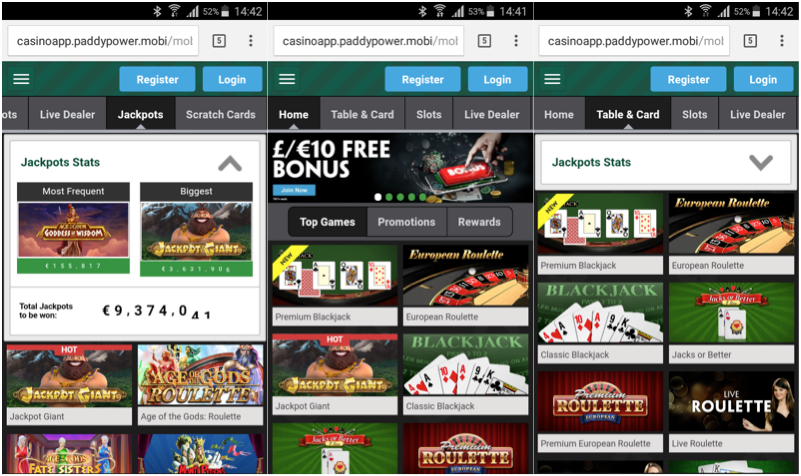 Paddy Power Casino Android App Download
