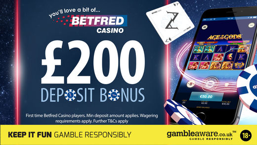 Betfred casino offer for new customers via the app