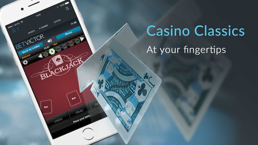 Classic casino games on the Betvictor android app